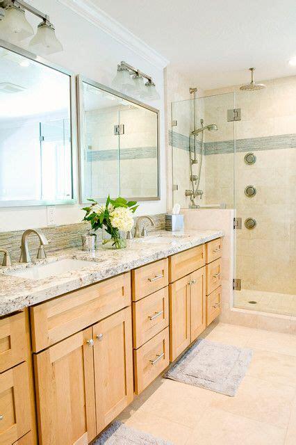 oak bathroom ideas  pinterest cream modern