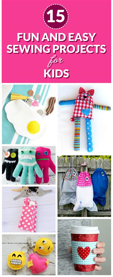 15 Fun And Easy Sewing Projects For Kids  Dabbles & Babbles