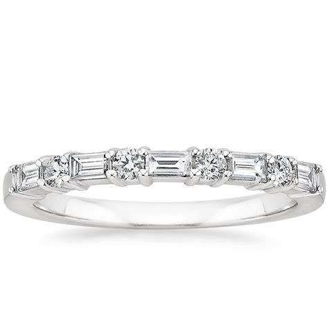 baguette diamond wedding band leona brilliant earth