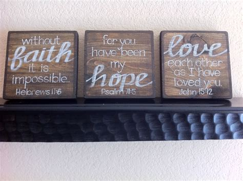 Scripture Art Home Decor Wall Art Faithhopelove Set