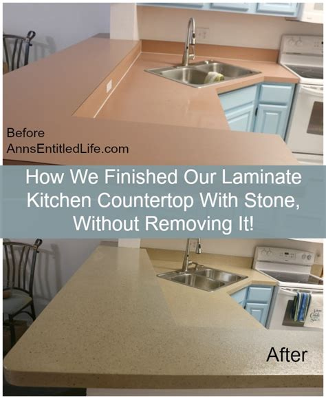 How To Redo Countertops Without Replacing by How We Finished Our Laminate Kitchen Countertop With