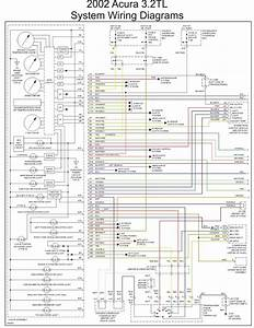 2002 Acura 3 2tl System Wiring Diagrams Part 1