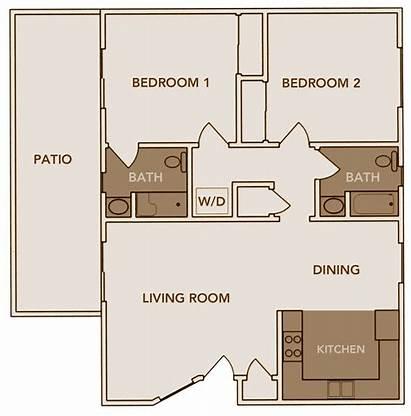 Plan Plans Floor Apartments Bath Living Bedroom