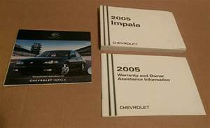 05 2005 Chevrolet Chevy Impala Owners Manual Oem Guide