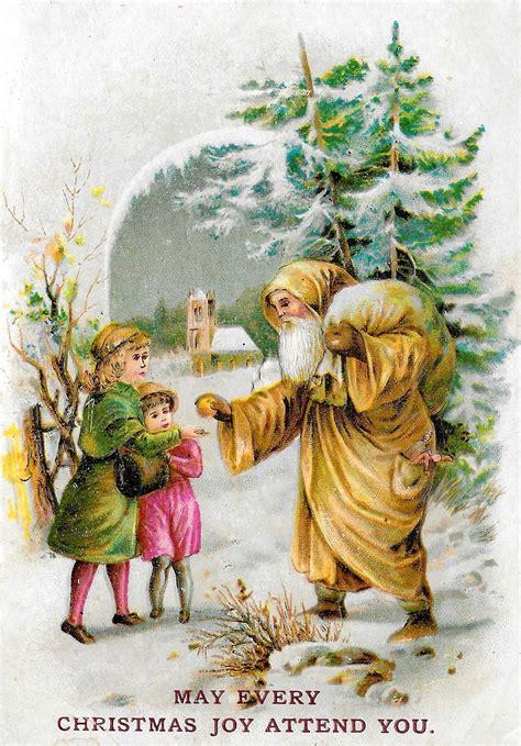 antique images  vintage christmas santa printable
