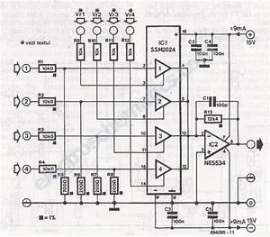 Voltage Controlled Audio Mixer Circuit