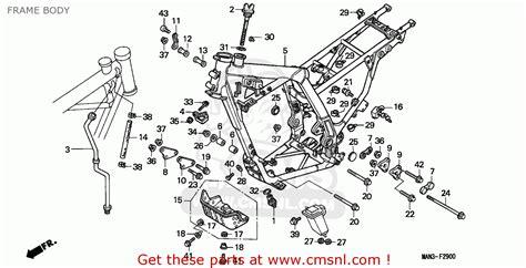 honda nx650 dominator 1995 frame schematic partsfiche
