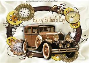 Vintage Car Nostalgia, in Steampunk Frame Fathers Day A4 ...