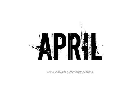 april  tattoo designs