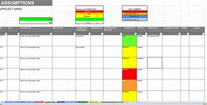 excel raid log and dashboard template dashboard template With project raid log template