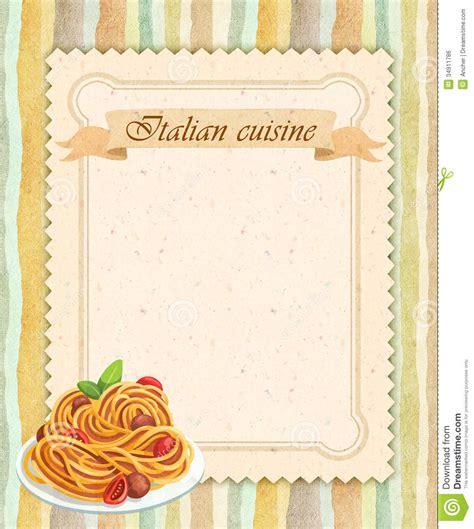 style cuisine cuisine restaurant menu card design in vintage
