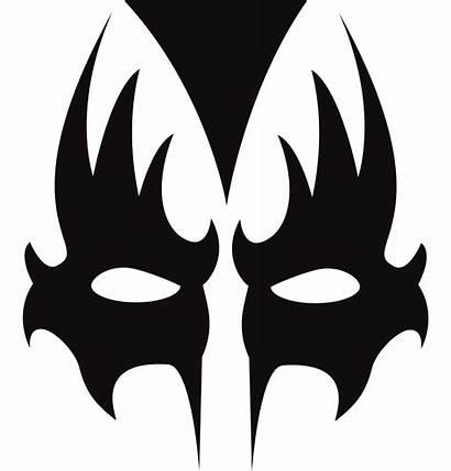 Gene Simmons Kiss Clipart Band Makeup Vector