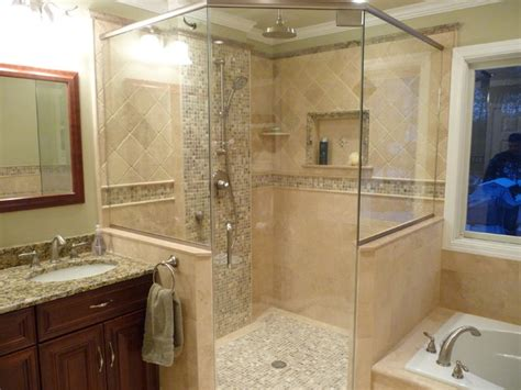 Uniquely Transitional Bathroom Remodel Traditional