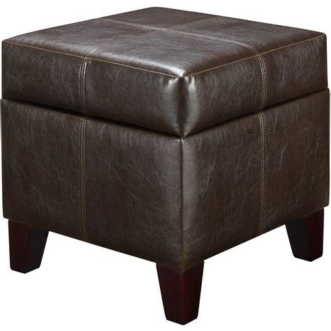 brown storage ottoman comfort living room bedroom furniture footstool ebay