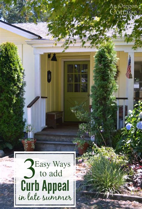 3 Easy Ways To Add Curb Appeal In Late Summer  An Oregon
