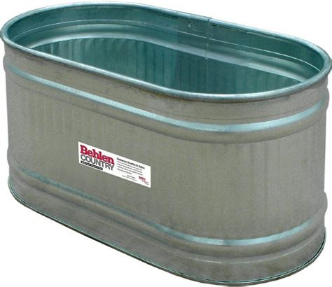 behlen country galvanized   water tank feed trough