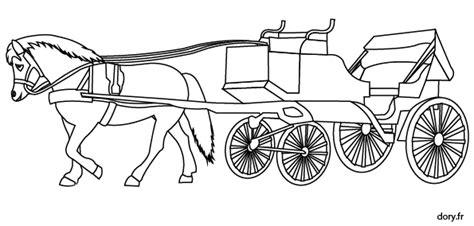 les ustensiles de cuisine coloriage une ancienne calèche tirée par un cheval dory