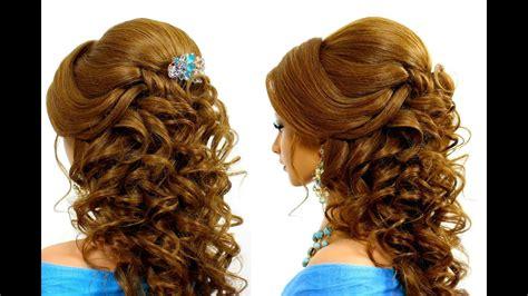 romantic wedding hairstyle  long hair tutorial youtube