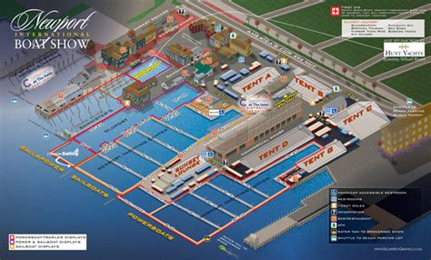 Newport International Boat Show Parking by Map Illustration And Design International Boat Show