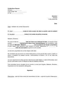 Résiliation Contrat Assurance Vie by Lettre De R 233 Siliation D Un Contrat D Assurance Suite 224