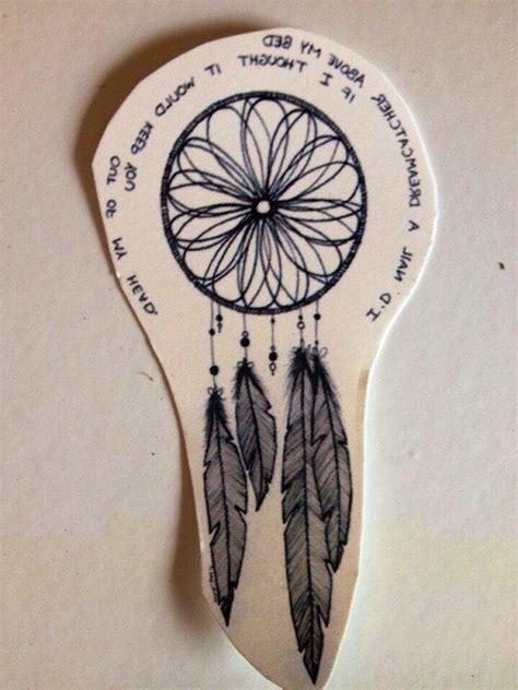 temporary tattoo quote dreamcatcher   bluehazelwood
