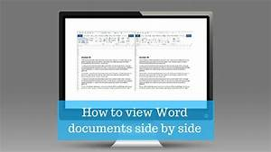 how to view word documents side by side willow admin With word documents compare side by side