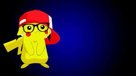 Anime Pikachu Wallpaper - anime pikachu pok 233 mon hat glasses wallpapers hd