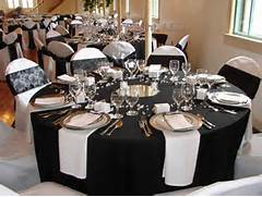 Table Decorations Black And White Theme Table Decorations
