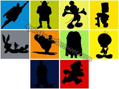 cartoon shadow quiz 6 letters shadowmania answers level 32 related keywords 20791 | guess the shadow level 1 2 3 4 5 6 7 8 9 10