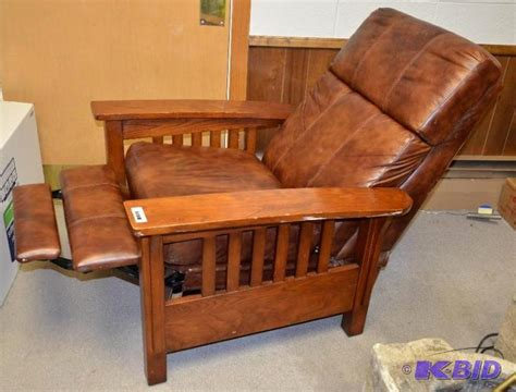 furniture mission style recliner cuir