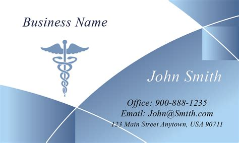 Blue Medical Business Card Blank Business Cards India Hair & Beauty Supply Creative Bakery In A Box Pinterest For Sheets