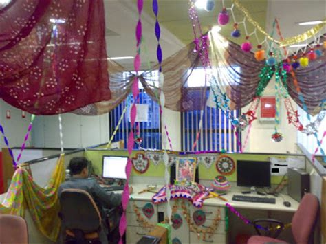 Cubicle Decoration Ideas For Diwali by Themes For Cubicle Decoration In Office Interior Home
