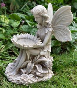 sitting with sunflower ornament garden fairies