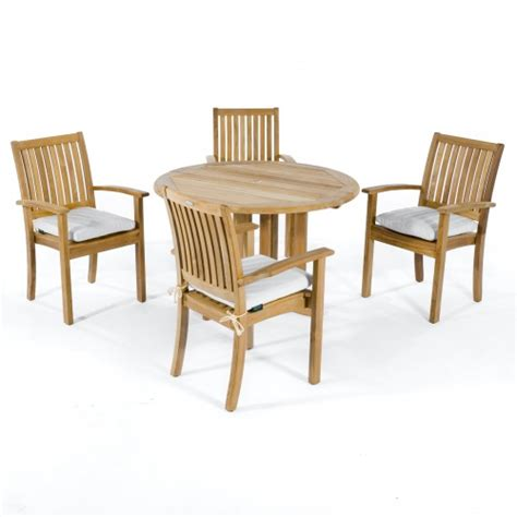 barbuda sussex teak stacking set westminster teak