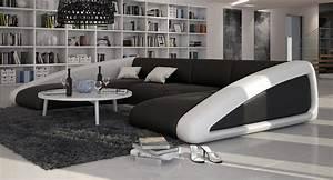 Canapé En U Cuir : grand canap d 39 angle original en cuir hope large v2 2 085 00 ~ Teatrodelosmanantiales.com Idées de Décoration