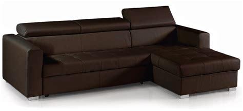 canap d angle convertible marron canapé d 39 angle convertible avec têtières simili cuir