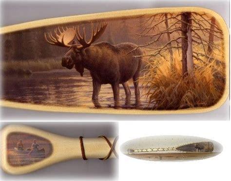 wildlife art canoe paddle art rustic decor home