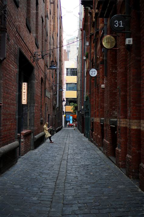 melbourne alleyway architecture  creative market