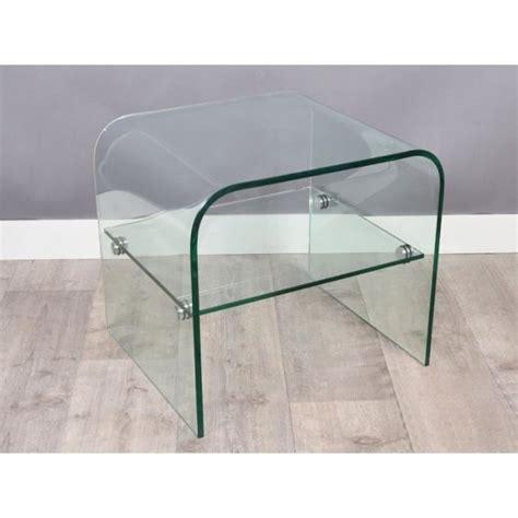 table bout de canap en verre bout de canapé hestia en verre achat vente bout de