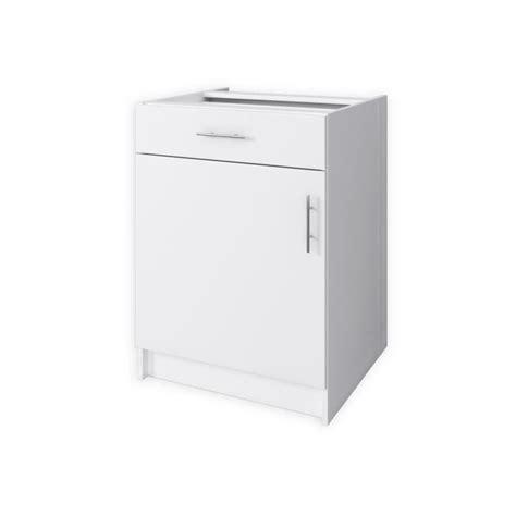 meuble de cuisine 60 cm start meuble bas de cuisine 1 porte 60 cm blanc mat