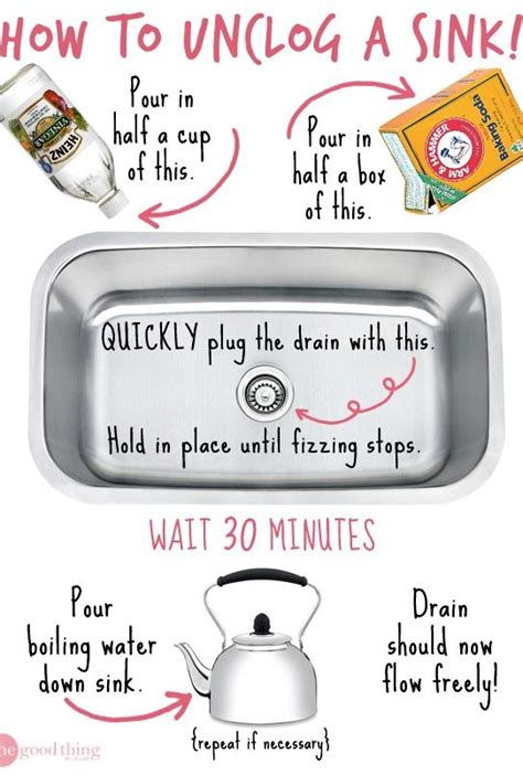 ways to unclog a sink how to unclog a sink without chemicals sinks