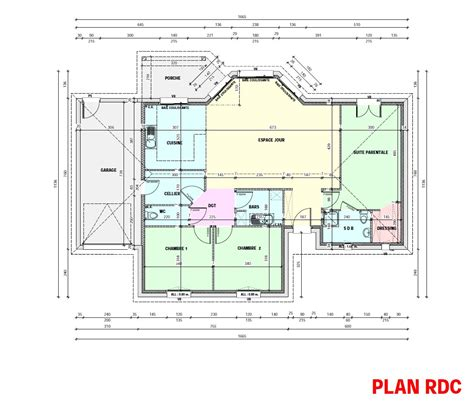 maison 5 chambres gallery of amnagement maison plan