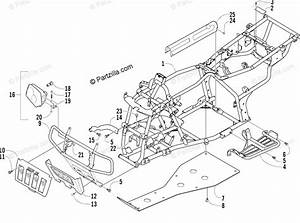 Arctic Cat Atv 2004 Oem Parts Diagram For Frame And Related Parts