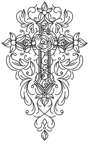 gothic gala cross urban threads unique  awesome embroidery designs