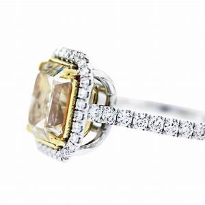 5ct fancy yellow radiant cut diamond engagement ring With radiant cut diamond wedding rings