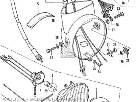 honda st70 dax parts list partsmanual partsfiche