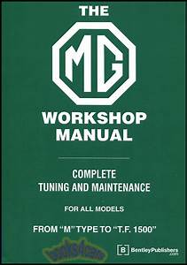 Mg Shop Manual Tc Td Tf Service Repair Book Blower Bentley