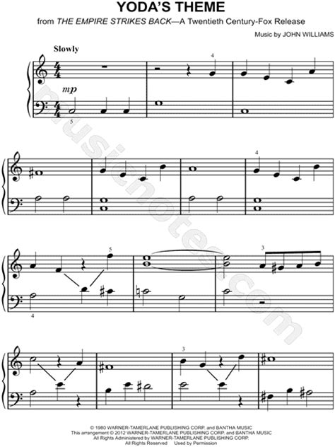empire flooring theme song quot yoda s theme quot from star wars the empire strikes back sheet music easy piano piano solo