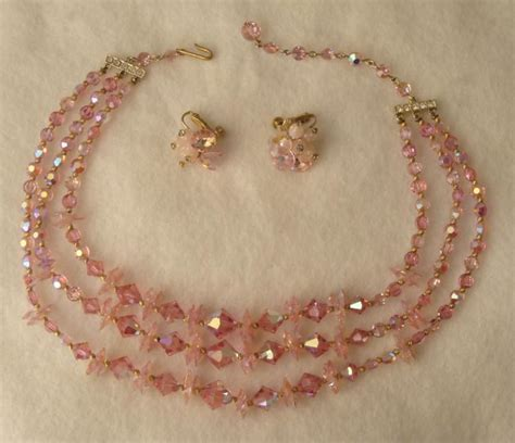 Vintage Vendome Necklace Earrings Costume Jewelry