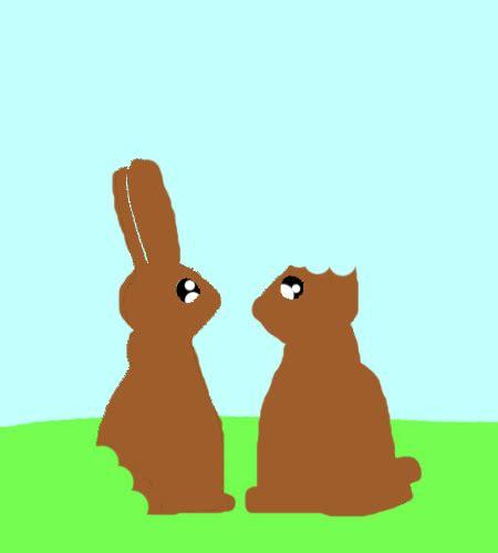 chocolate easter bunnies fun  fun ecards greeting